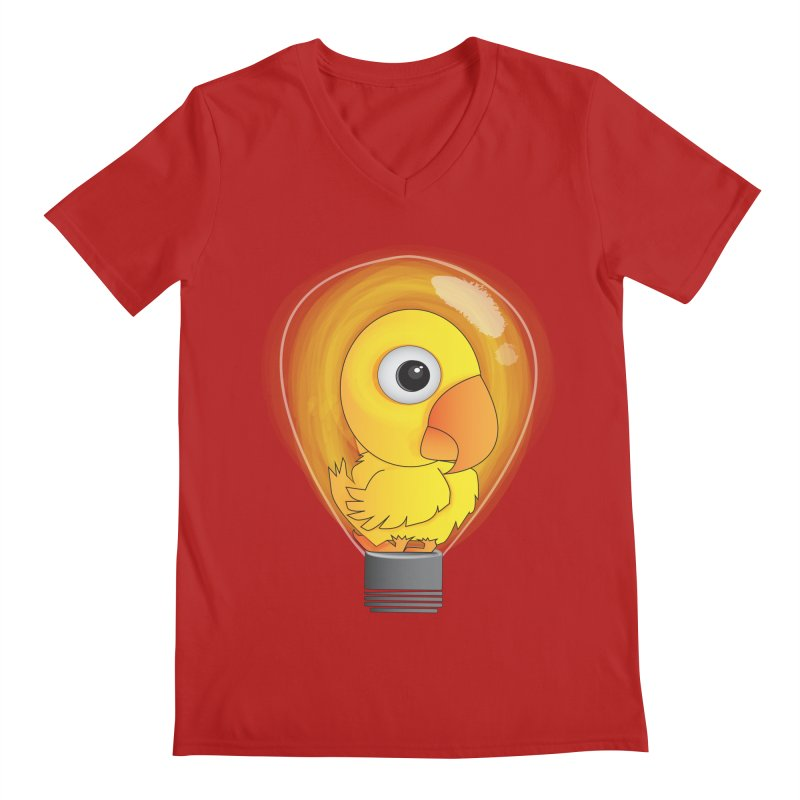 Baby Chick Men's V-Neck by Slugamo's Threads
