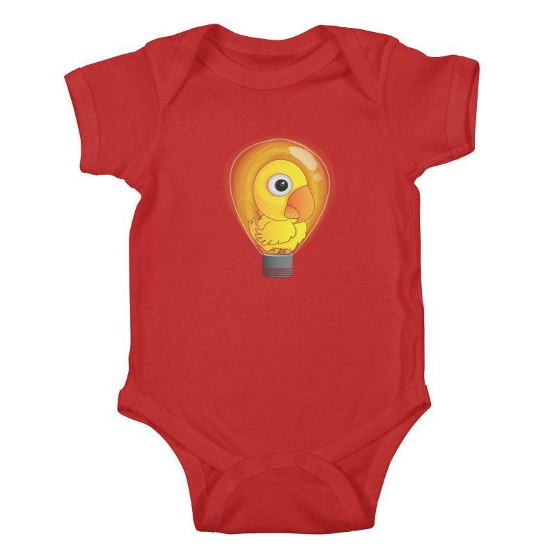 Baby Chick Kids Baby Bodysuit by Slugamo's Threads