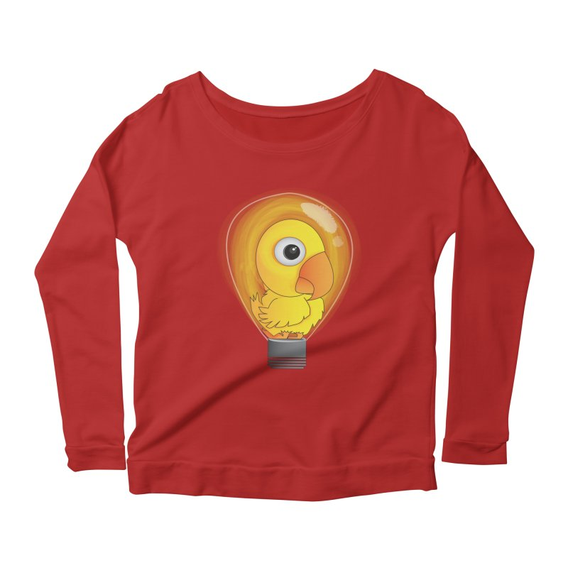 Baby Chick Women's Longsleeve Scoopneck  by Slugamo's Threads