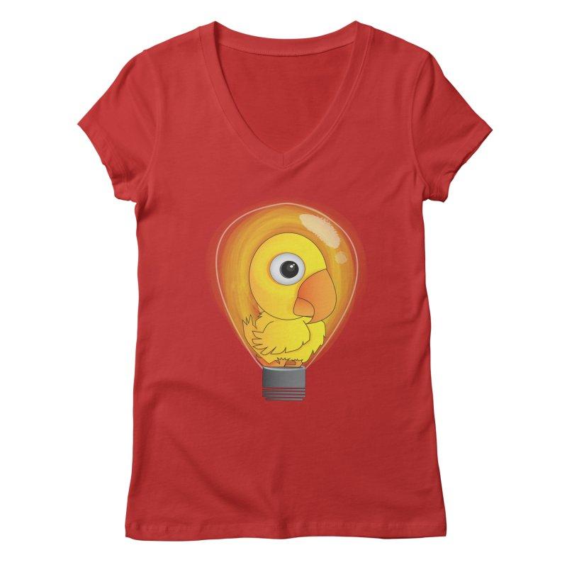 Baby Chick Women's V-Neck by Slugamo's Threads