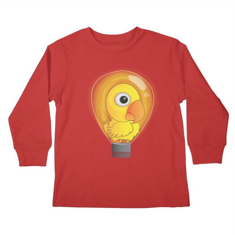 Baby Chick Kids Longsleeve T-Shirt by Slugamo's Threads