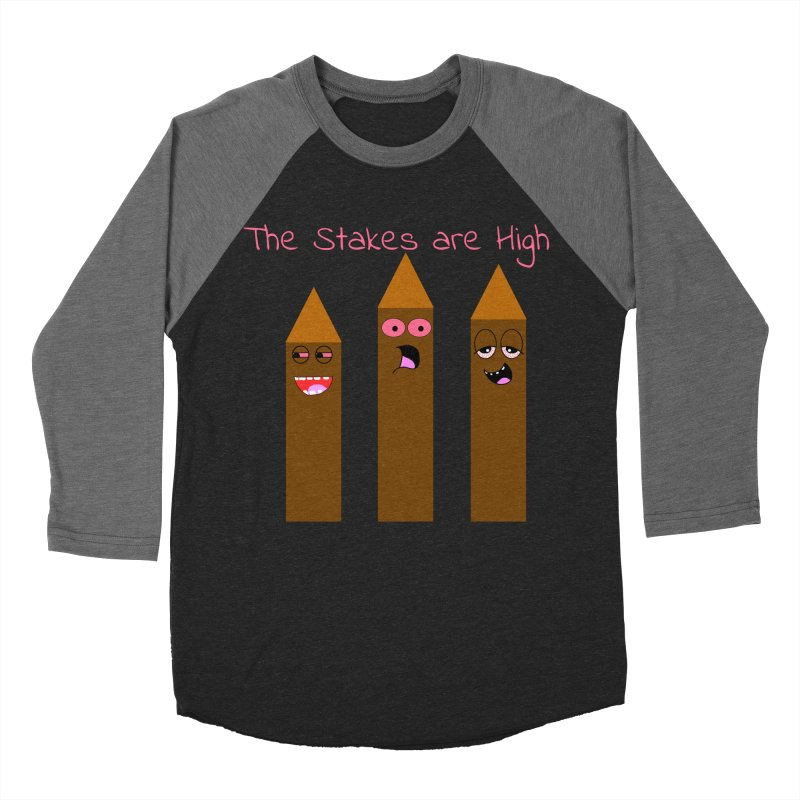 High Stakes Men's Baseball Triblend Longsleeve T-Shirt by Birchmark