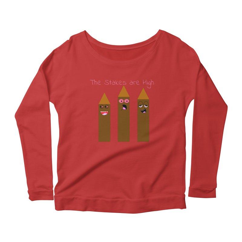 High Stakes Women's Scoop Neck Longsleeve T-Shirt by Birchmark
