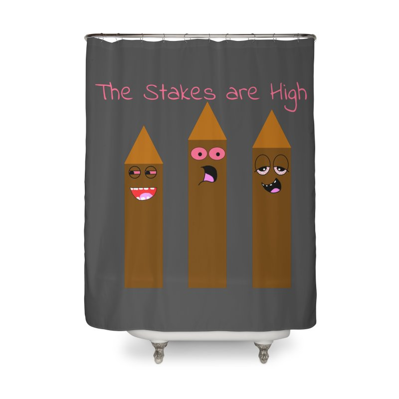 High Stakes Home Shower Curtain by Birchmark