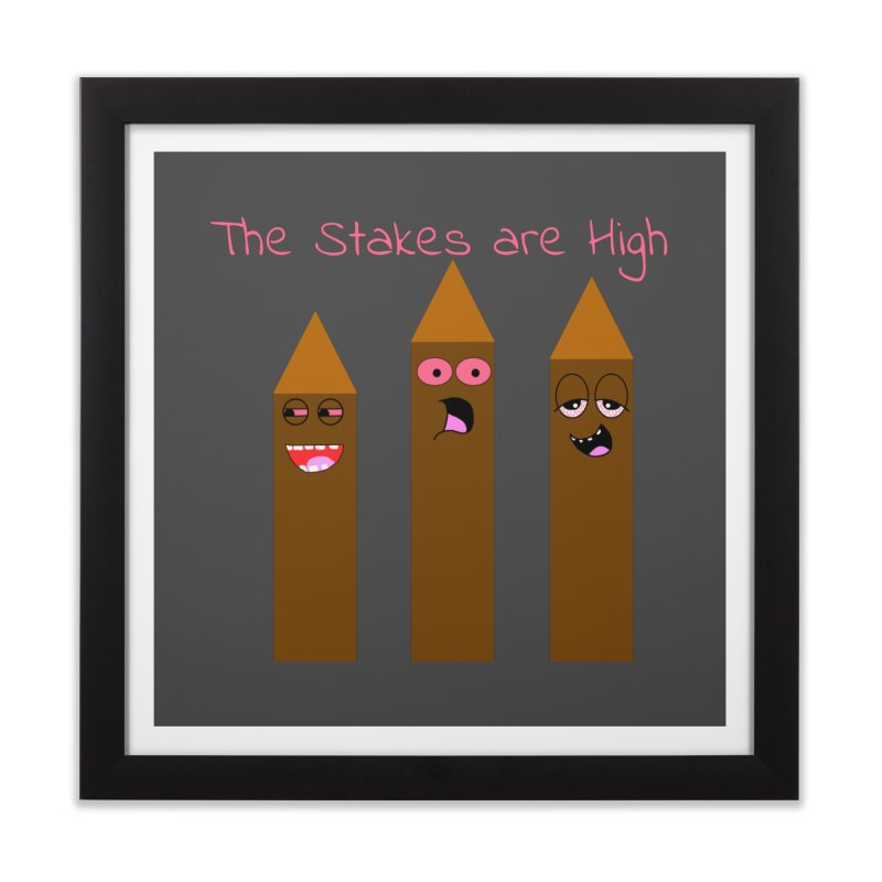 High Stakes Home Framed Fine Art Print by Birchmark