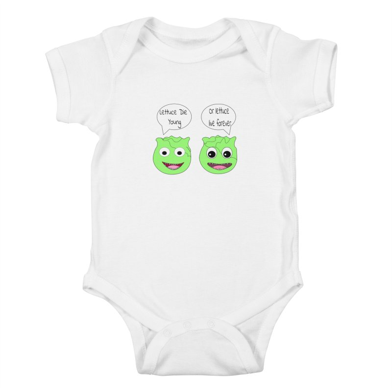 Forever Lettuce (Misheard Song Lyric)  Kids Baby Bodysuit by Birchmark