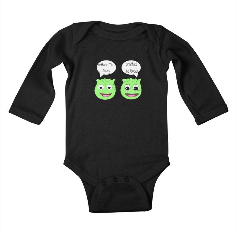 Forever Lettuce (Misheard Song Lyric)  Kids Baby Longsleeve Bodysuit by Birchmark