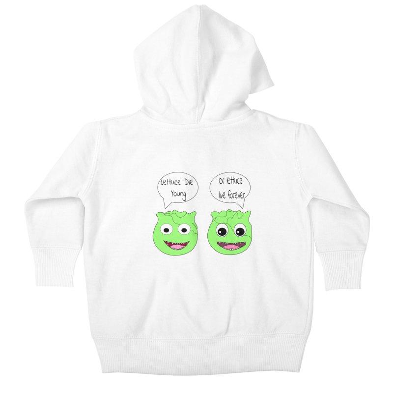 Forever Lettuce (Misheard Song Lyric)  Kids Baby Zip-Up Hoody by Birchmark
