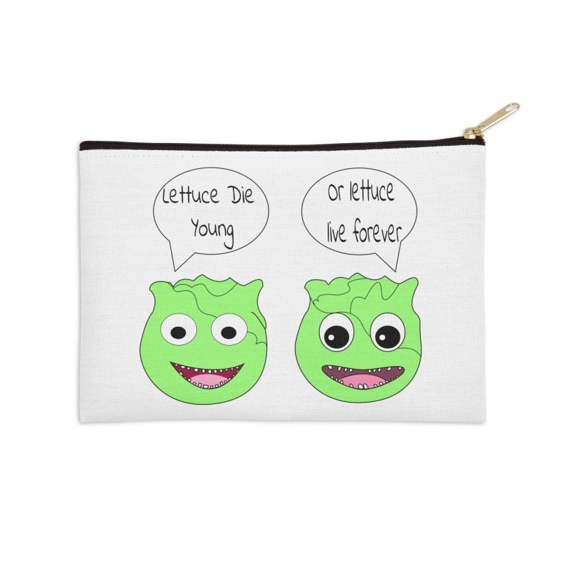 Forever Lettuce (Misheard Song Lyric)  Accessories Zip Pouch by Birchmark