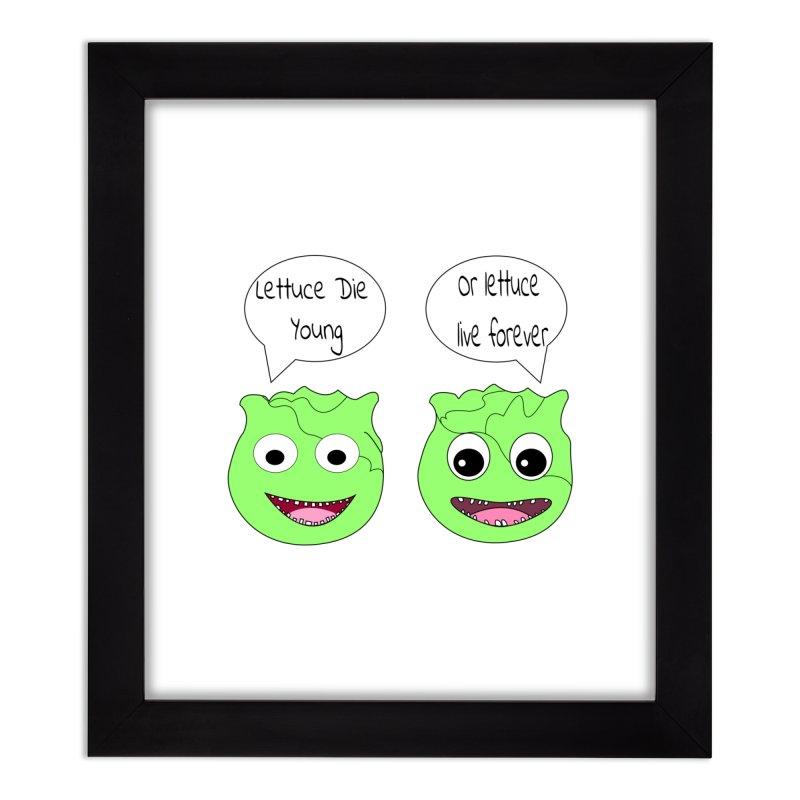 Forever Lettuce (Misheard Song Lyric)  Home Framed Fine Art Print by Birchmark