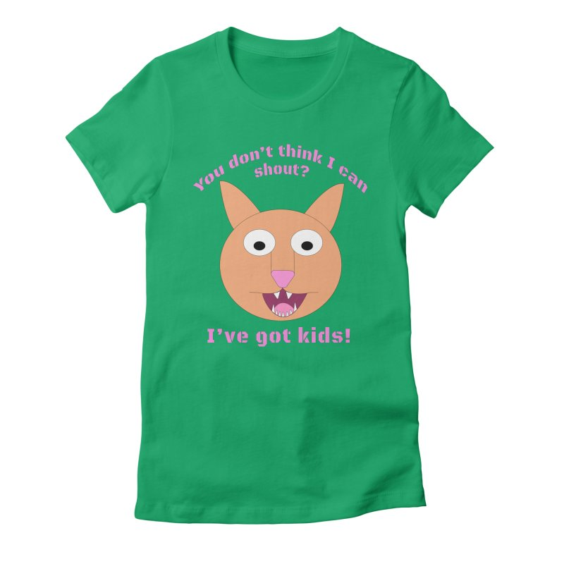 Carrie and The Shout (BUB) Women's Fitted T-Shirt by Birchmark