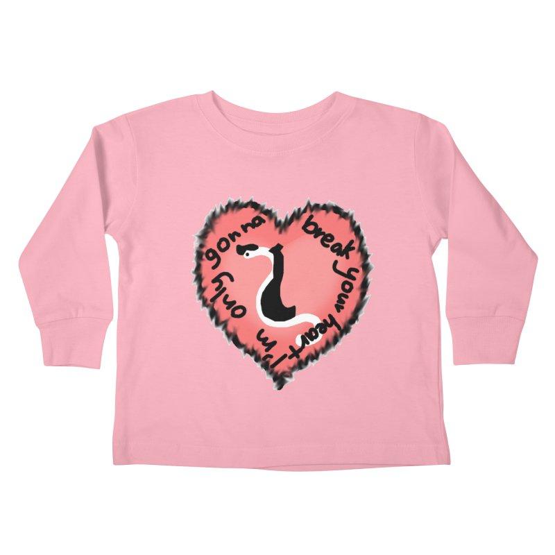 Heartworm Heart Throb Kids Toddler Longsleeve T-Shirt by Birchmark