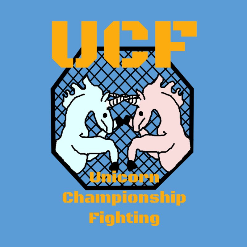Unicorn Championship Fighting Home Fine Art Print by Birchmark