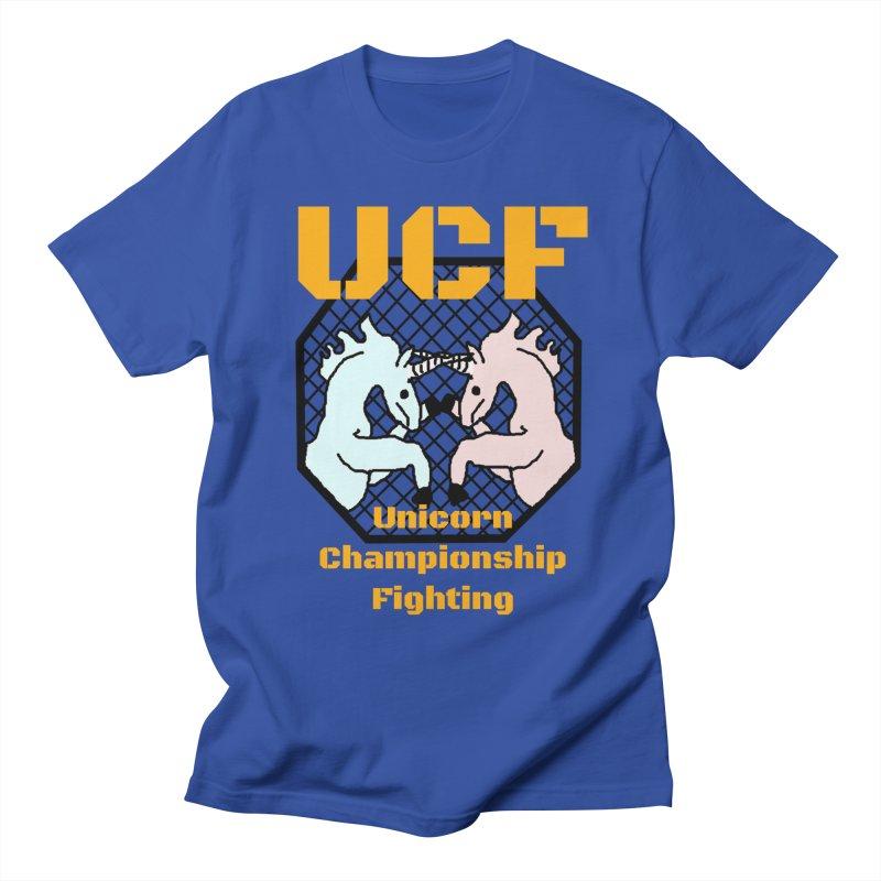 Unicorn Championship Fighting Men's T-Shirt by Birchmark