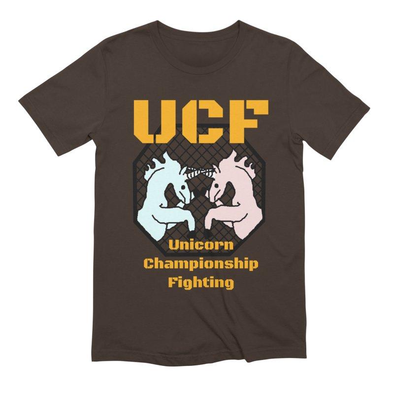 Unicorn Championship Fighting Men's Extra Soft T-Shirt by Birchmark