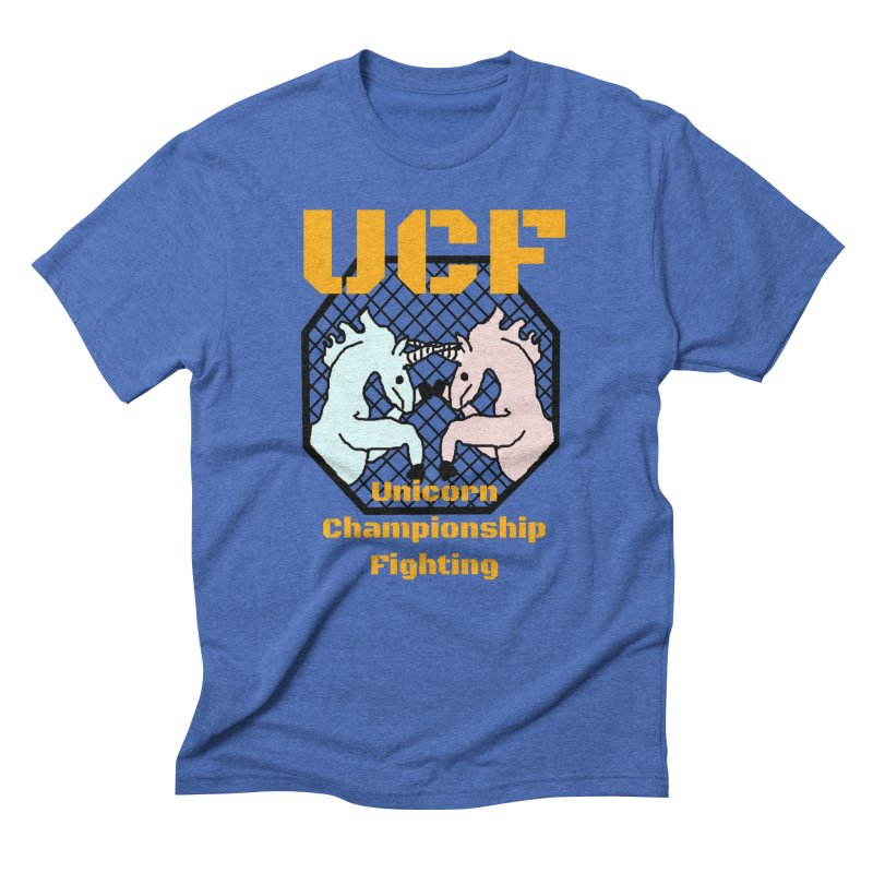Unicorn Championship Fighting Men's T-Shirt by Birchmark