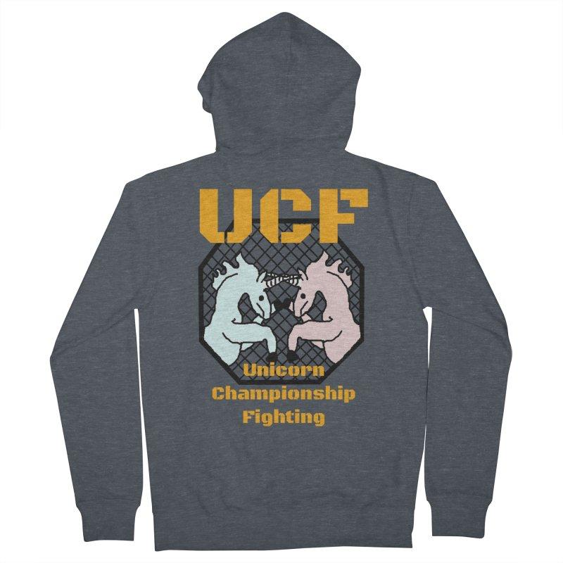 Unicorn Championship Fighting Women's Zip-Up Hoody by Birchmark