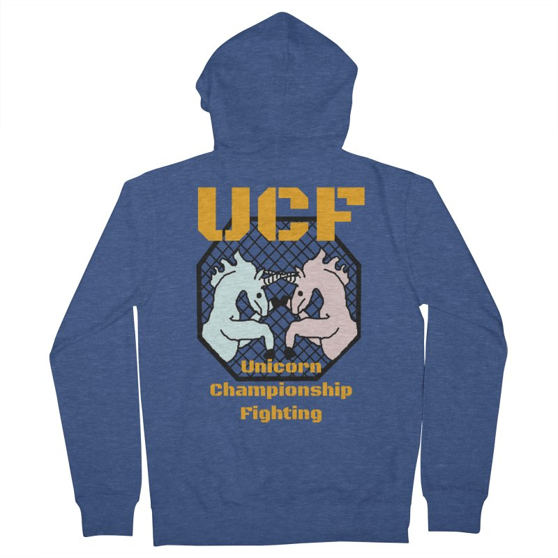 Unicorn Championship Fighting Men's Zip-Up Hoody by Birchmark