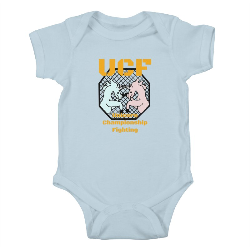 Unicorn Championship Fighting Kids Baby Bodysuit by Birchmark