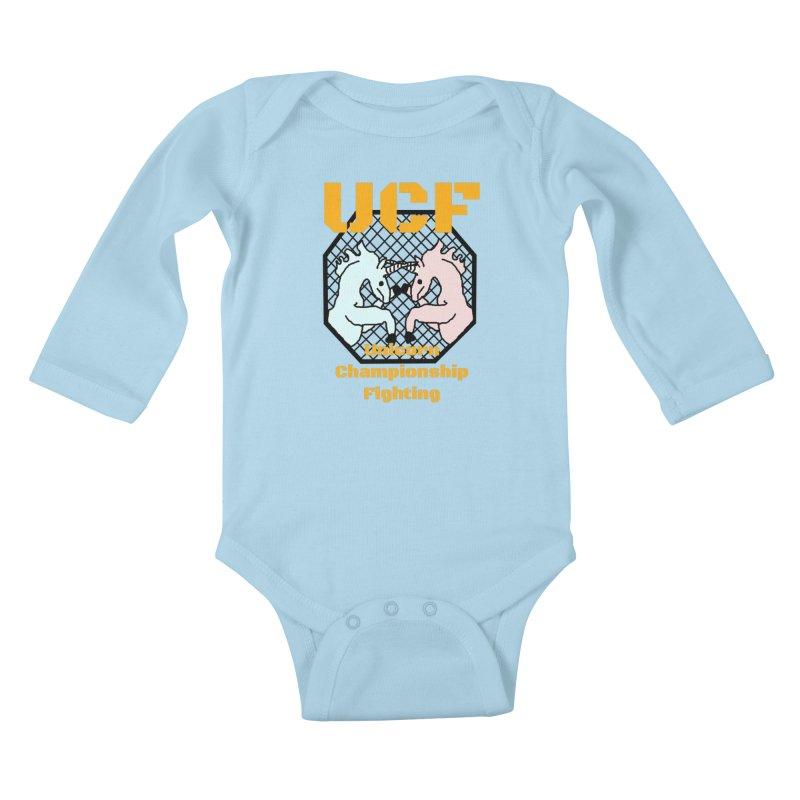 Unicorn Championship Fighting Kids Baby Longsleeve Bodysuit by Birchmark
