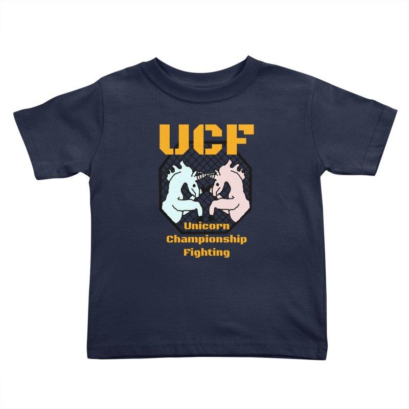 Unicorn Championship Fighting Kids Toddler T-Shirt by Birchmark