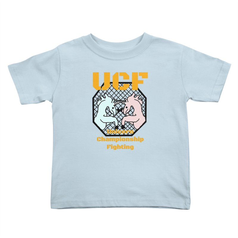 Unicorn Championship Fighting Kids Toddler T-Shirt by Birchmark