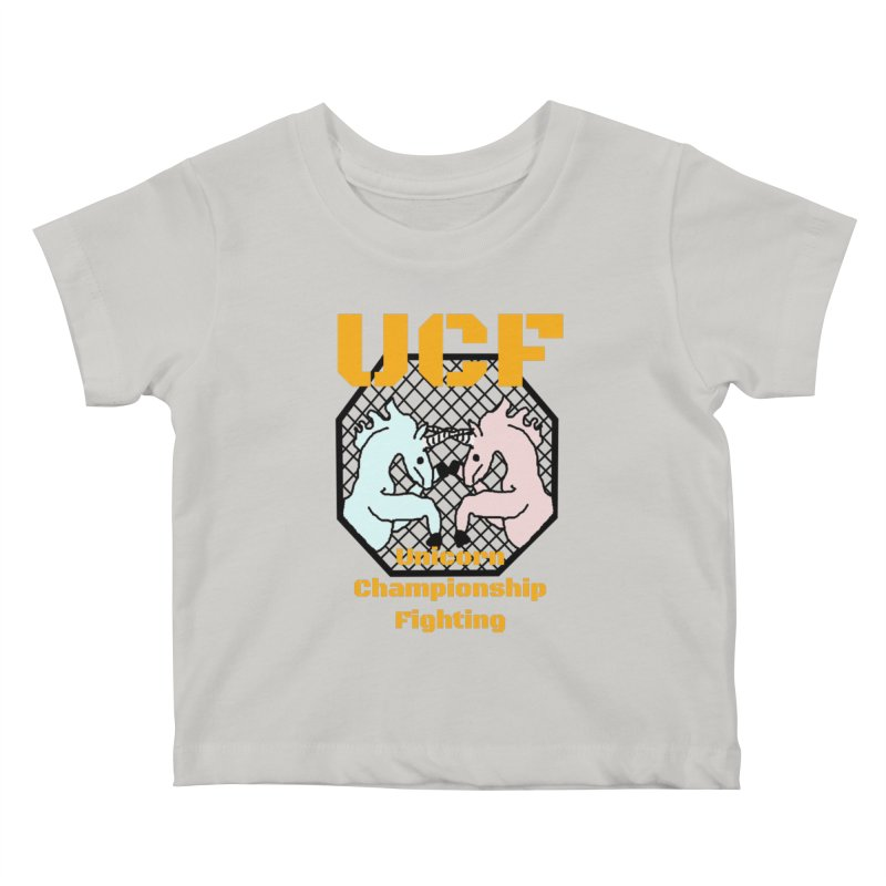 Unicorn Championship Fighting Kids Baby T-Shirt by Birchmark