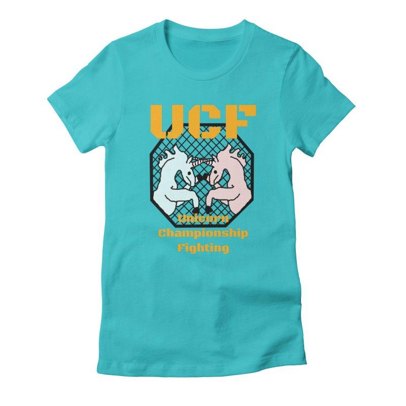 Unicorn Championship Fighting Women's T-Shirt by Birchmark