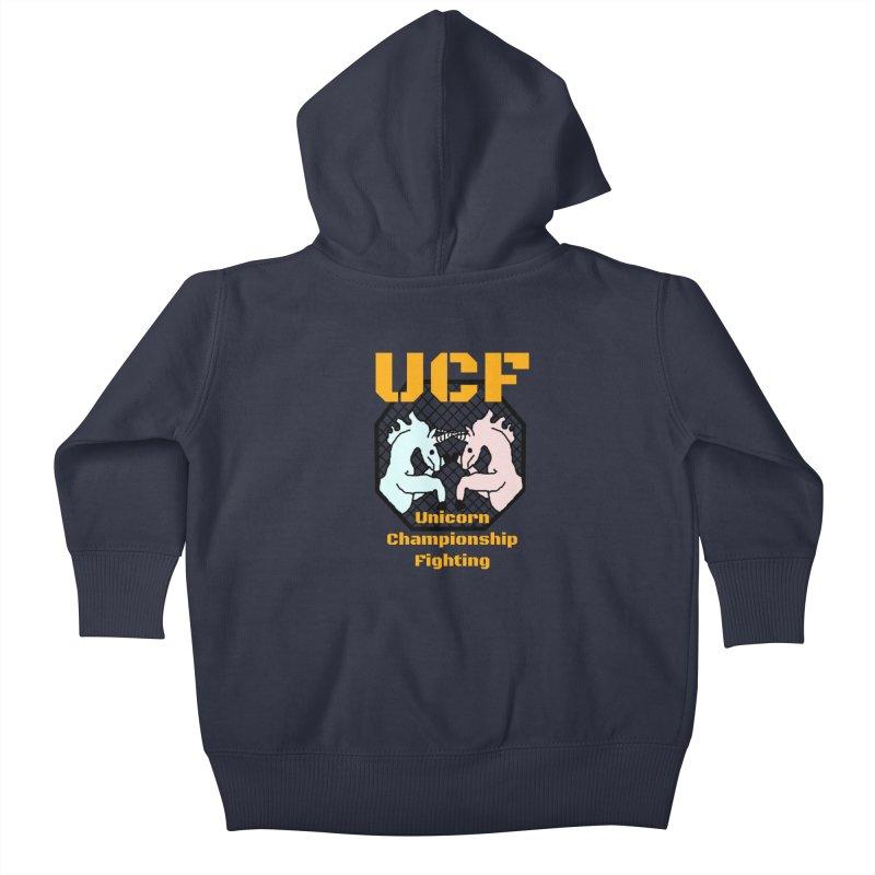 Unicorn Championship Fighting Kids Baby Zip-Up Hoody by Birchmark