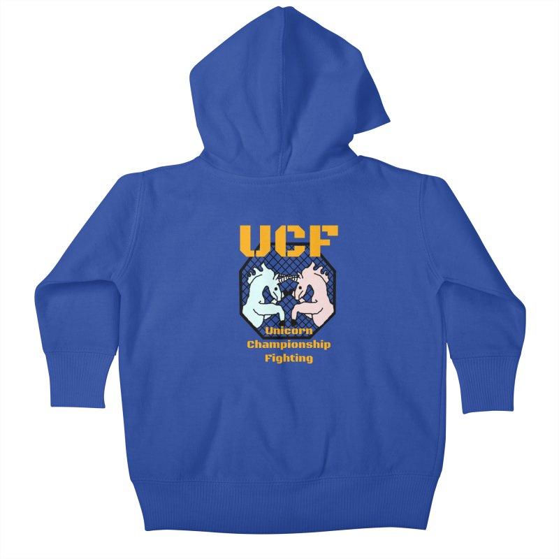 Unicorn Championship Fighting Kids Baby Zip-Up Hoody by Birchmark