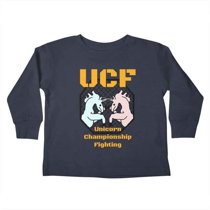 Unicorn Championship Fighting Kids Toddler Longsleeve T-Shirt by Birchmark