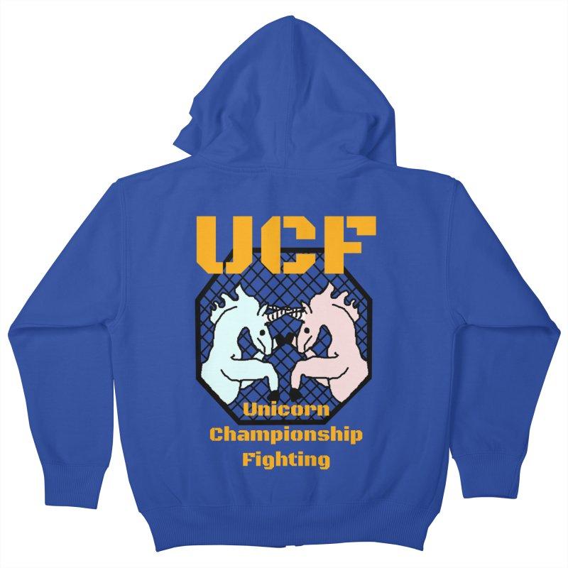 Unicorn Championship Fighting Kids Zip-Up Hoody by Birchmark