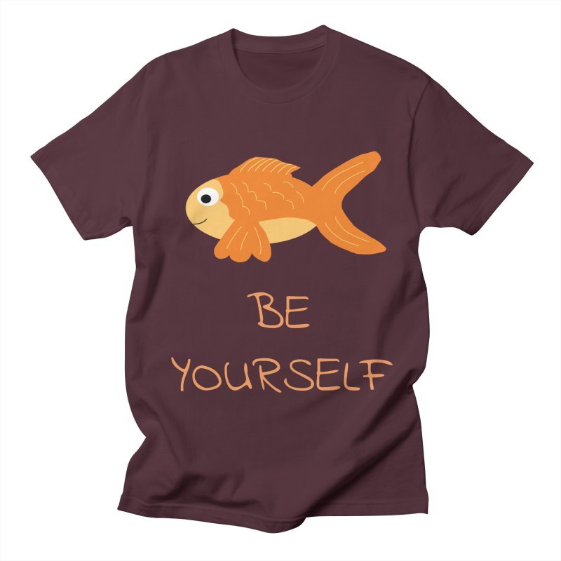The Be Yourself Fish Men's T-Shirt by Birchmark