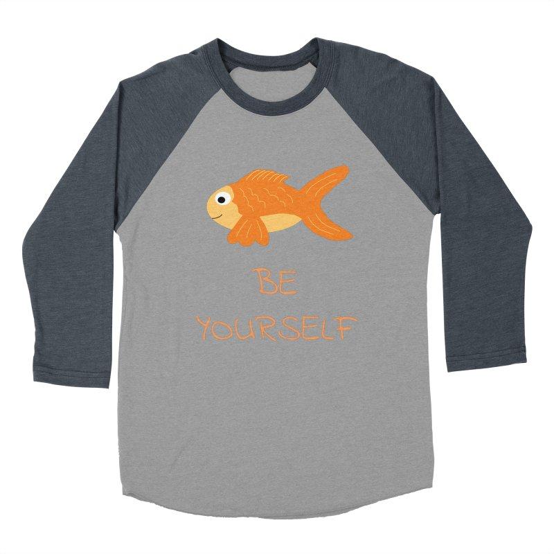 The Be Yourself Fish Women's Baseball Triblend Longsleeve T-Shirt by Birchmark
