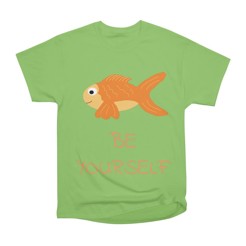 The Be Yourself Fish Women's Heavyweight Unisex T-Shirt by Birchmark