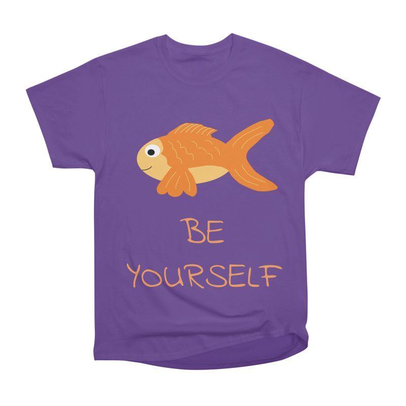The Be Yourself Fish Men's Heavyweight T-Shirt by Birchmark