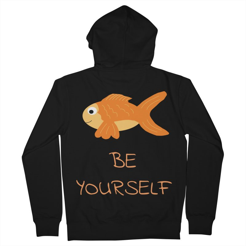 The Be Yourself Fish Women's French Terry Zip-Up Hoody by Birchmark