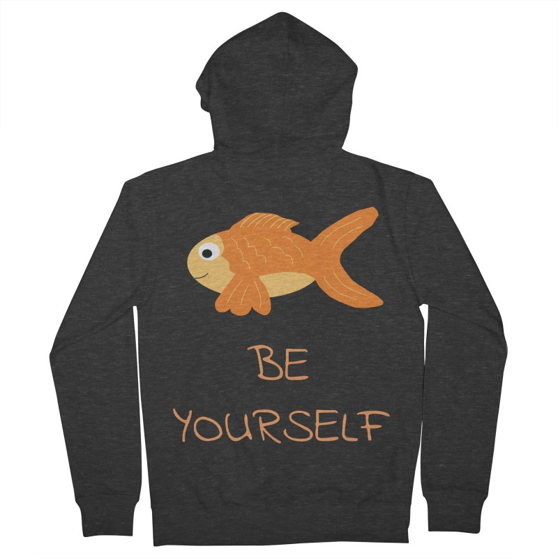 The Be Yourself Fish Men's French Terry Zip-Up Hoody by Birchmark