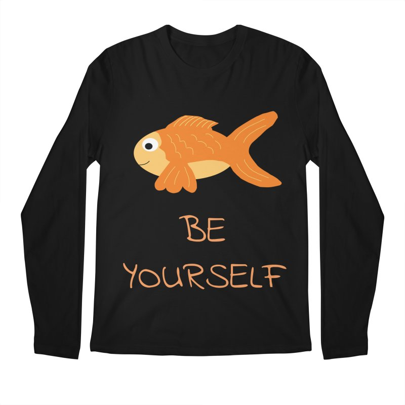 The Be Yourself Fish Men's Regular Longsleeve T-Shirt by Birchmark