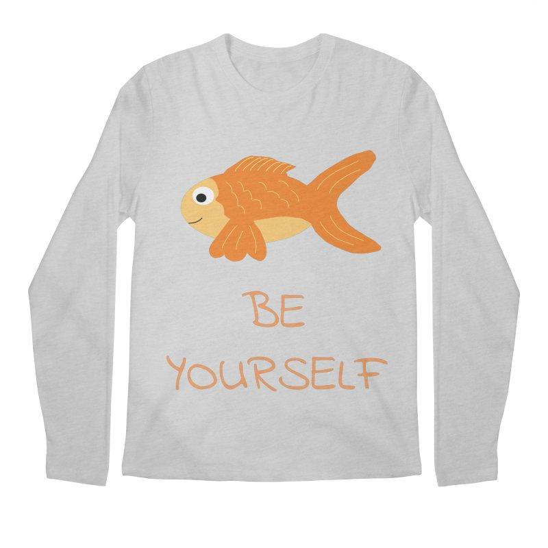 The Be Yourself Fish Men's Regular Longsleeve T-Shirt by Birchmark