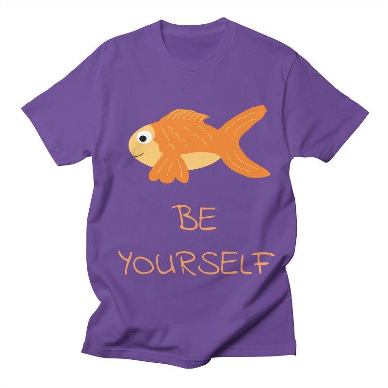 The Be Yourself Fish Women's Regular Unisex T-Shirt by Birchmark