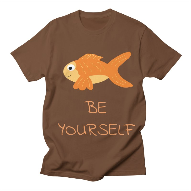 The Be Yourself Fish Women's Unisex T-Shirt by Birchmark