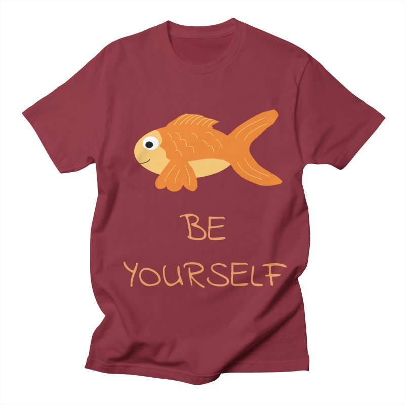 The Be Yourself Fish Men's Regular T-Shirt by Birchmark