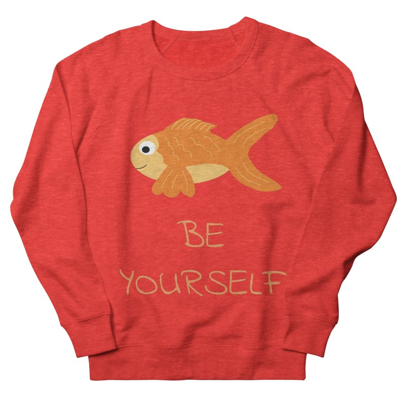 The Be Yourself Fish Men's Sweatshirt by Birchmark