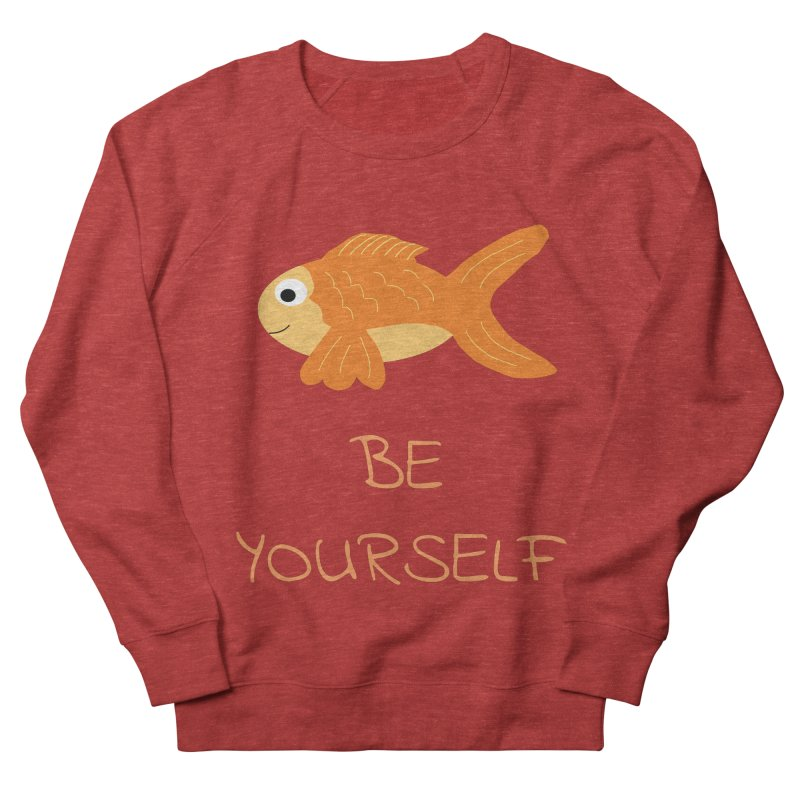 The Be Yourself Fish Men's French Terry Sweatshirt by Birchmark