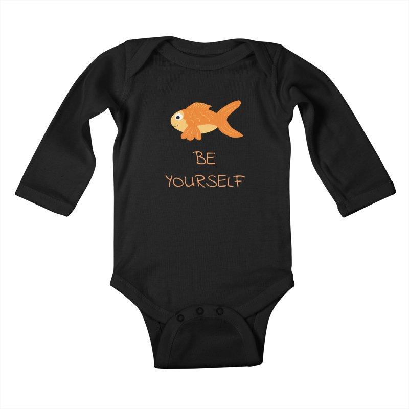 The Be Yourself Fish Kids Baby Longsleeve Bodysuit by Birchmark