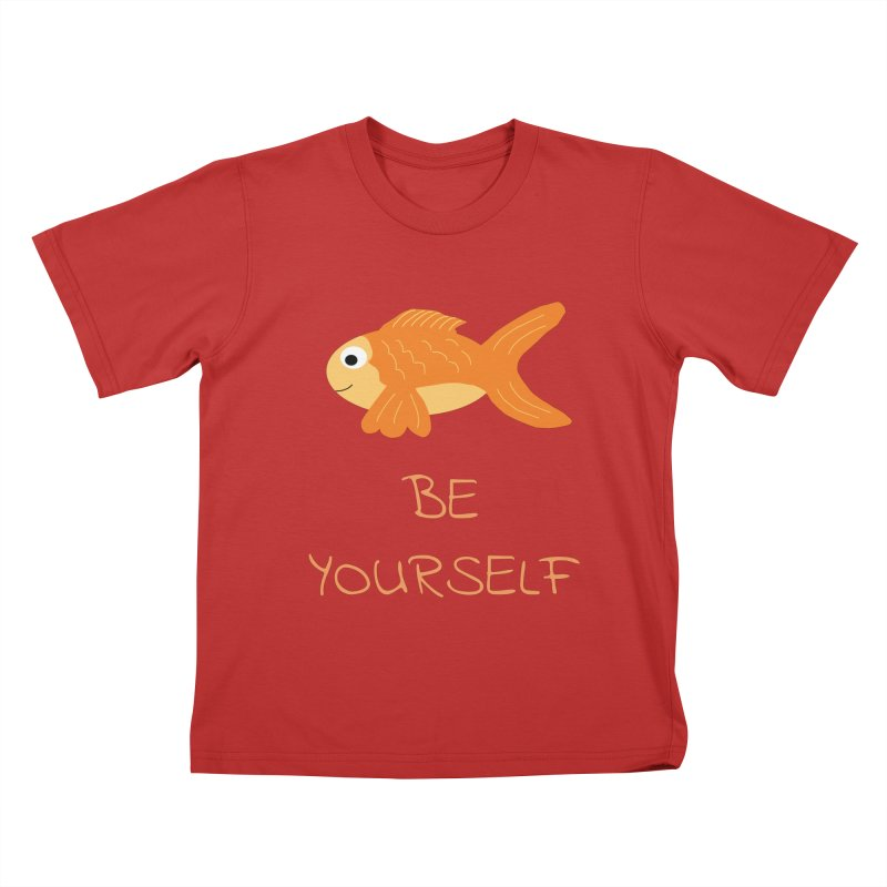 The Be Yourself Fish Kids T-Shirt by Birchmark