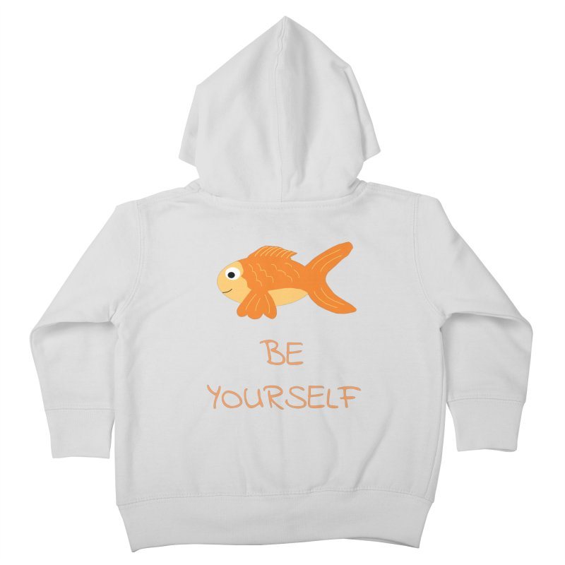 The Be Yourself Fish Kids Toddler Zip-Up Hoody by Birchmark