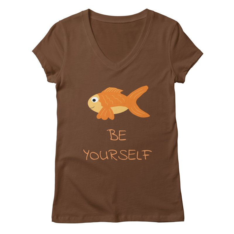 The Be Yourself Fish Women's V-Neck by Birchmark