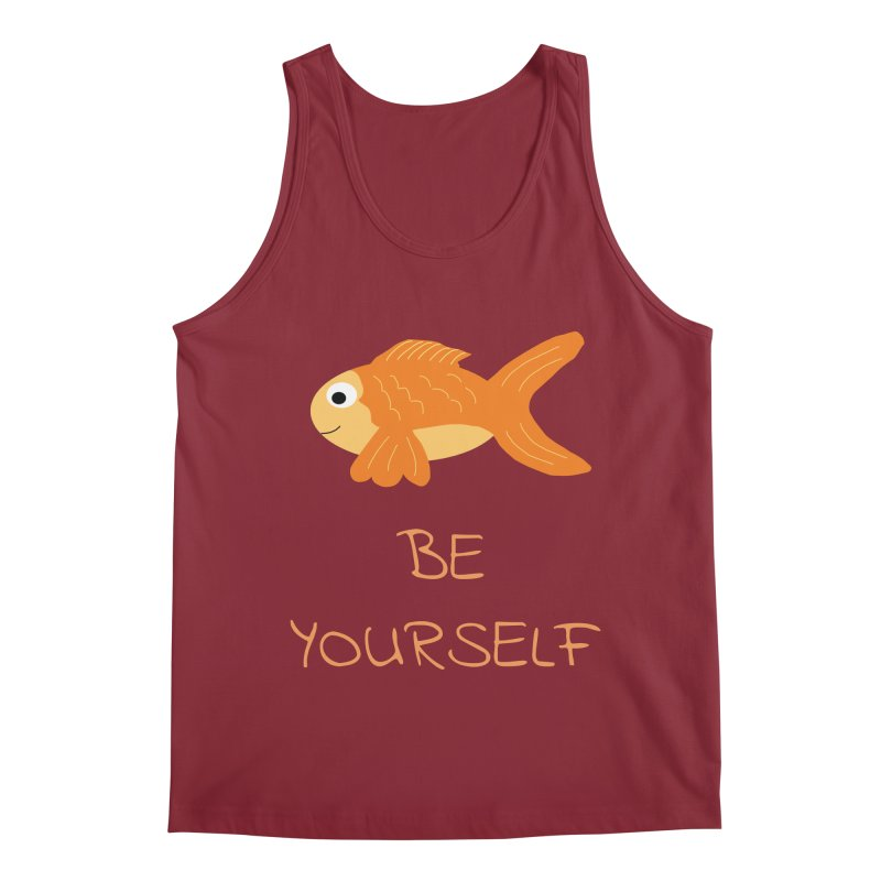 The Be Yourself Fish Men's Tank by Birchmark